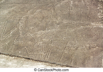 Nazca Lines Pelican - Nazca Lines geoglyphs known as the...