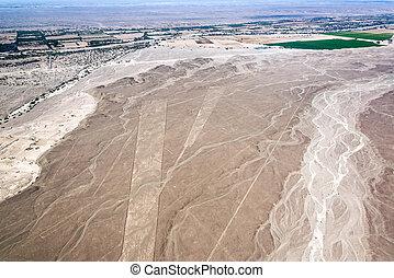 Nazca, 線, 梯形,