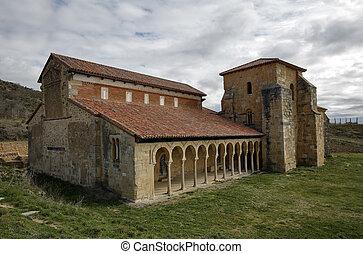Mozarabic monastery of San Miguel de Escalada in Leon, Spain