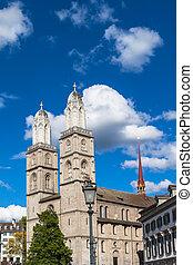 The Grossmunster Church in Zurich