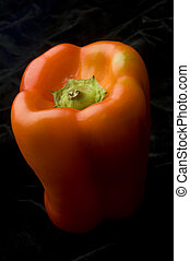Red pepper 2 - Sensuous red pepper on a black background