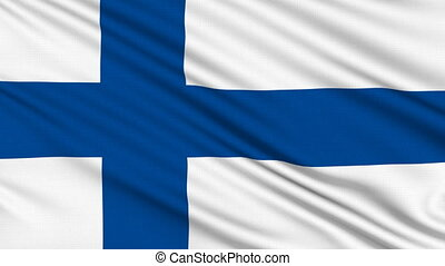 Finnish Flag, with real structure of a fabric