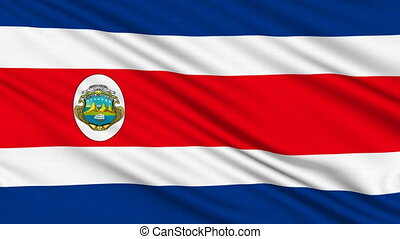 Costa Rican flag, with real structure of a fabric