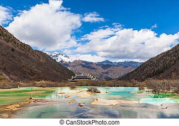 Huanglong National park in Sichuan China