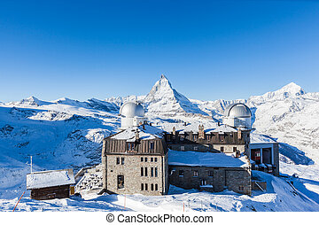 Panorama view of Matterhorn Massive from Gornergrat View...