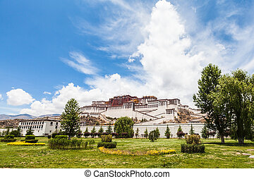 Potala Palace in Lhasa of Tibet