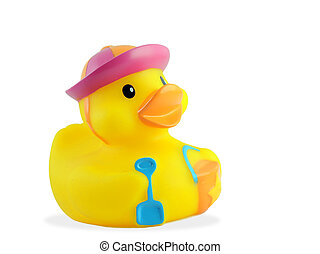 Bath duck - Little cute bath duck with beach outfit