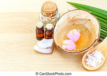 Natural Spa Ingredients . - Coconut essential Oil for...