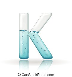 3d clean water letter K