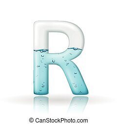 3d clean water letter R