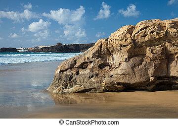 Northern Fuerteventura, Playa del Castillo beach close to El...