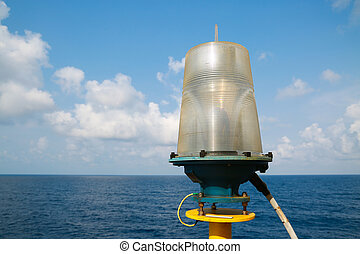 Navigation aid on the platform in offshore, Signal in...