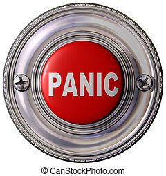 Panic Button - Isolated illustration of an emergency panic...