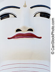 Buddha Face art of Myanmar.
