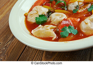 Tortellini Minestrone Soup - Italian winter soup with...