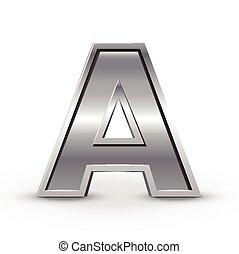 3d metal letter A