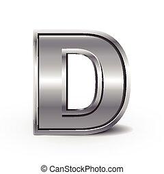3d metal letter D