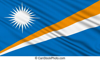 Marshall Islands Flag, with real structure of a fabric