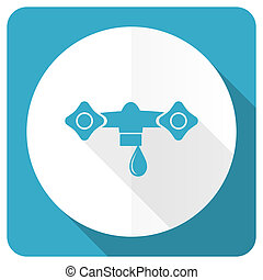 water blue flat icon hydraulics sign
