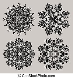 vintage lace frames vector illustration