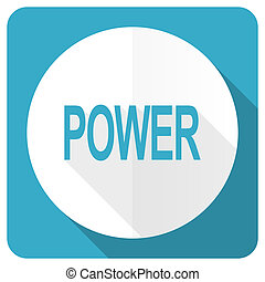 power blue flat icon