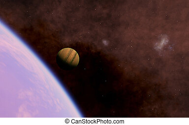 Alien Desert Exo Planet far away in deep space