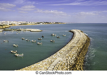 Albufeira fishermen Marina and beach, Algarve. - Albufeira...