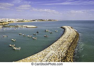 Albufeira fishermen Marina and beach, Algarve. - Albufeira...