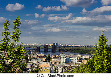 View of the Podil and Troeshchina