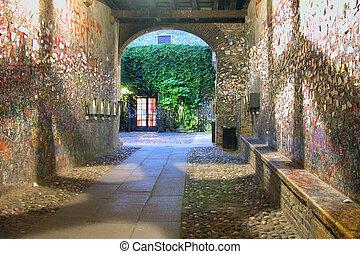 romeo, Juliet, casa, Verona, Itália