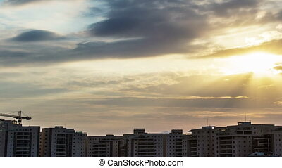 Clouds over the residential area - Clouds over the...