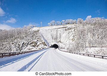 powder snow mountain in Sapporo, Hokkaido Japan