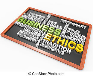 Business Ethics 3d word concept