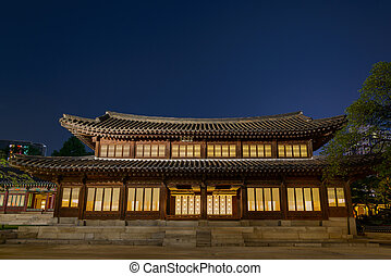 Wooden building in Korean palace
