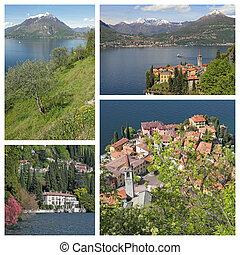 fantastic images of Varenna village on lake Como in north...