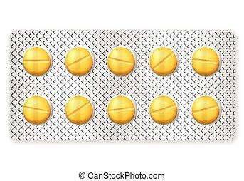 blister pills - Blister medicine pill on a white background....