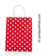 Colorful shopping bag isolated on white background