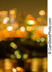Bokeh and defocus of cityscape at night,Bangkok Thailand