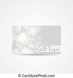Abstract Beautiful Winter Christmas Gift Card Design, Vector Ill