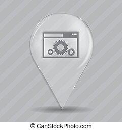 Setting Glossy Icon Vector Illustration