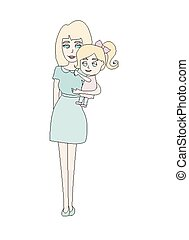 Doodle mom and baby