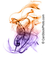 Beautiful gradient colored smoke abstract