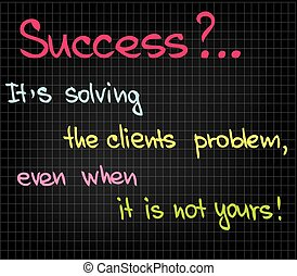 Success of customer service - Customer Serivce attitude...