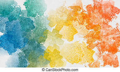 Colorful abstract watercolor background - Hand painted...