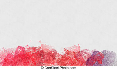 Abstract red watercolor background - Hand painted...