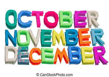 Plasticine,  (october,  december), palabras, noviembre
