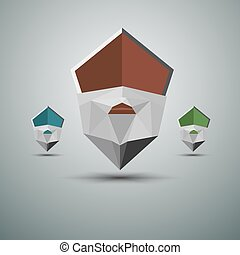 Abstract Pointers set. Illustration on white background for...