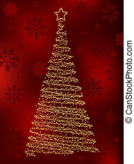 Decorative christmas fir tree.