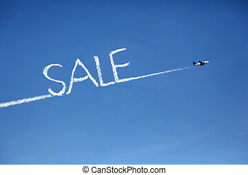 airplane sale cloud copy - airplane whos exhaust pipes form...