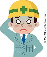 Young men are unwell - Vector illustration.